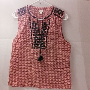 J. Crew Women's Sleeveless Shirt Size 10